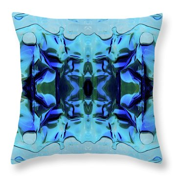 Throw Pillow featuring the digital art Liquid Abstract #0059-1 by Barbara Tristan