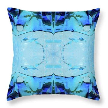 Throw Pillow featuring the digital art Liquid Abstract  #0059-2 by Barbara Tristan