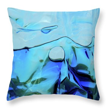 Throw Pillow featuring the photograph Liquid Abstract  #0059 by Barbara Tristan
