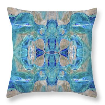 Throw Pillow featuring the digital art Liquid Abstract  #0060-1 by Barbara Tristan