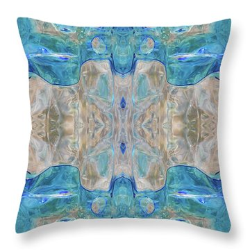 Throw Pillow featuring the digital art Liquid Abstract  #0060-2 by Barbara Tristan