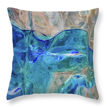 Throw Pillow featuring the photograph Liquid Abstract  #0060 by Barbara Tristan
