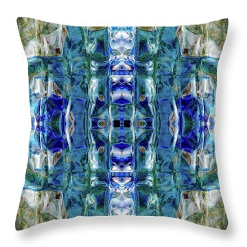 Throw Pillow featuring the digital art Liquid Abstract #0061-2 by Barbara Tristan