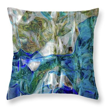 Throw Pillow featuring the photograph Liquid Abstract #0061 by Barbara Tristan