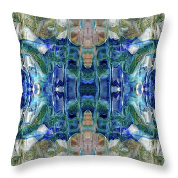 Throw Pillow featuring the digital art Liquid Abstract #0061_1 by Barbara Tristan