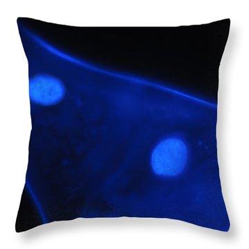 Liquid Blue 1 Throw Pillow