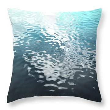 Throw Pillow featuring the photograph Liquid Blue by Rebecca Harman