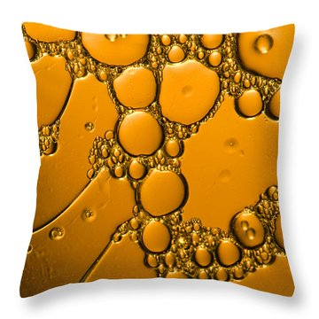 Liquid Bronze Age Abstract Throw Pillow by Bruce Pritchett
