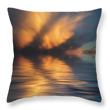 Liquid Cloud Throw Pillow by Jerry McElroy