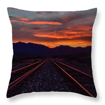 Liquid Copper Flowing Into The Night Throw Pillow
