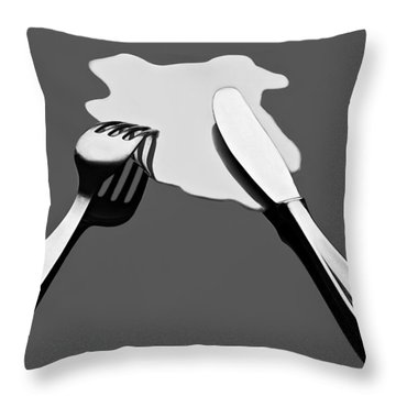 Liquid Food Throw Pillow
