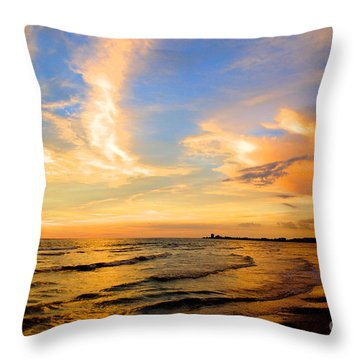 Liquid Gold Throw Pillow by Margie Amberge