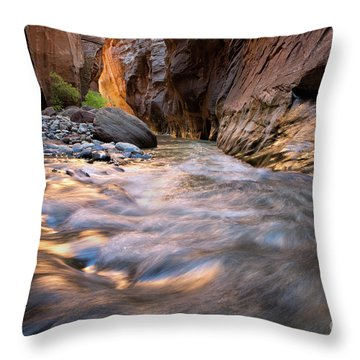 Liquid Gold Utah Adventure Landscape Photography By Kaylyn Franks Throw Pillow