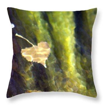 Liquid Leaves 1 Throw Pillow by Alycia Christine