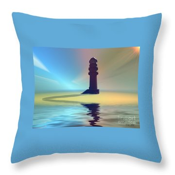 Liquid Lights Throw Pillow by Corey Ford