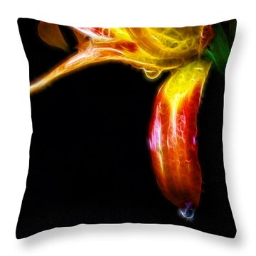 Liquid Lily Throw Pillow by Cameron Wood