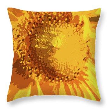 Liquid Petals -  Throw Pillow