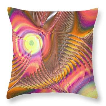 Throw Pillow featuring the digital art Liquid Rainbow by Anastasiya Malakhova