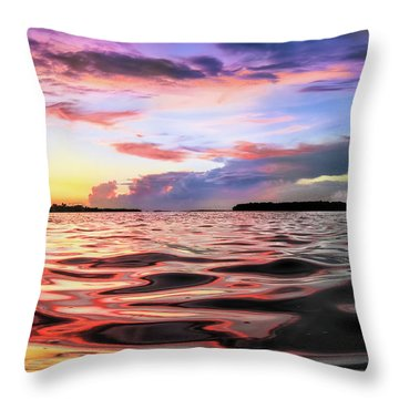 Liquid Red Throw Pillow