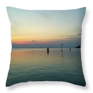 Throw Pillow featuring the photograph Liquid Sunset by Anne Kotan