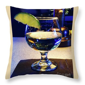 Liquid Sunshine Throw Pillow by Megan Cohen