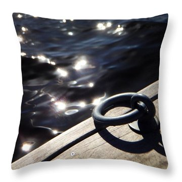 Dock On The Charles River Throw Pillow