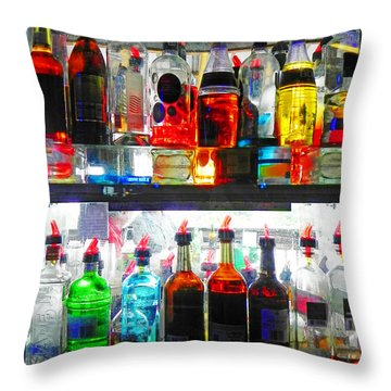 Liquor Cabinet Throw Pillow