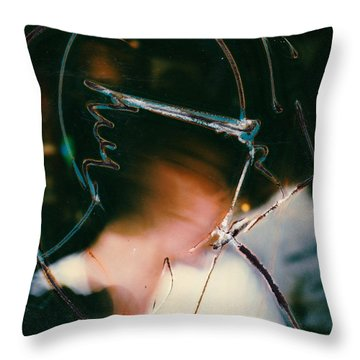 Lisa Throw Pillow by JC Armbruster