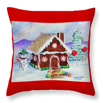 Lisa's Gingerbread House Throw Pillow