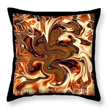 Lisa's Gold Throw Pillow