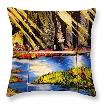 Lisas Neck Of The Woods Throw Pillow