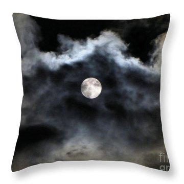 Lisas Wildlife Moons 2 Throw Pillow