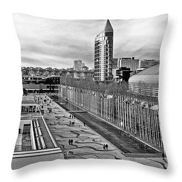 Lisboa - Portugal - Parque Das Nacoes Throw Pillow