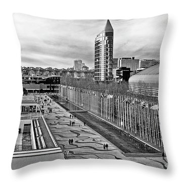 Lisboa - Portugal - Parque Das Nacoes Throw Pillow