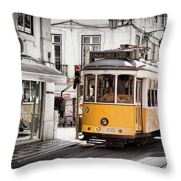 Lisboa Tram I Throw Pillow