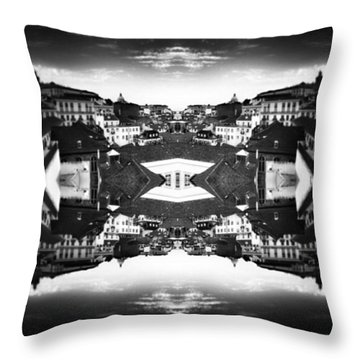 Lisbon In Bw Throw Pillow