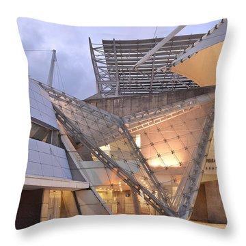 Throw Pillow featuring the photograph Lisbon International Fair Building by Marek Stepan