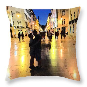 Lisbon Love Throw Pillow by Tom Wurl