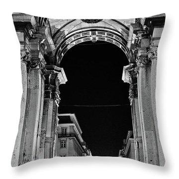 Lisbon - Portugal - Triumphal Arch - Rua Augusta Throw Pillow