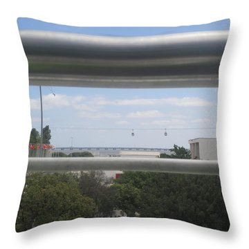 Lisbon Seen From A Terrace Throw Pillow