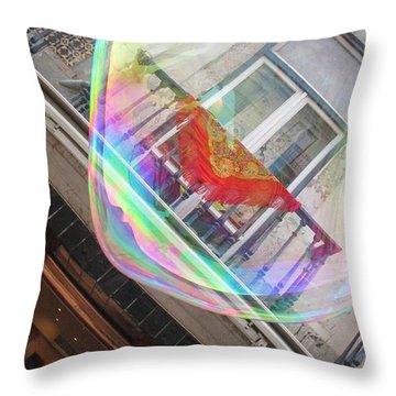 Lisbon Seen Through A Soap Ball Throw Pillow