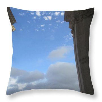 Lisbon Seen Through The Triumphal Arc Throw Pillow