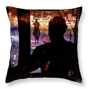 Throw Pillow featuring the photograph Lisbon Tram by Dariusz Gudowicz