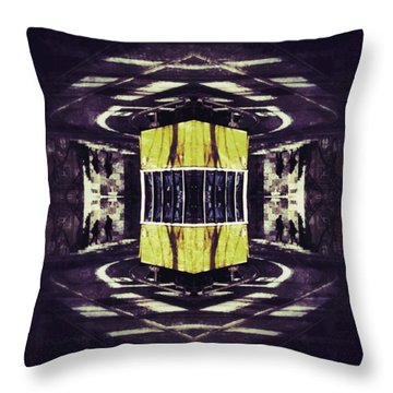 Lisbon Tram Throw Pillow