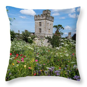 Lismore Castle Gardens Throw Pillow