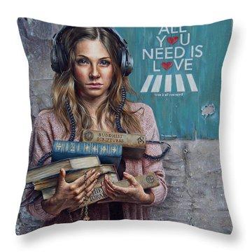 Realism Throw Pillows