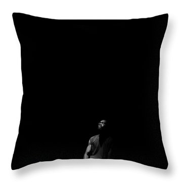 Throw Pillow featuring the photograph Listen by Eric Christopher Jackson