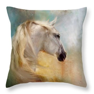 Listen To The Wind- Harley Throw Pillow