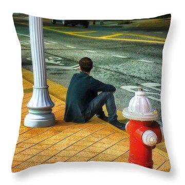Listening  Throw Pillow