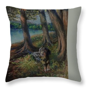 Listening To The Tales Of The Trees Throw Pillow